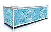 Экран под ванну 170 см, синий гранит, пластиковый каркас