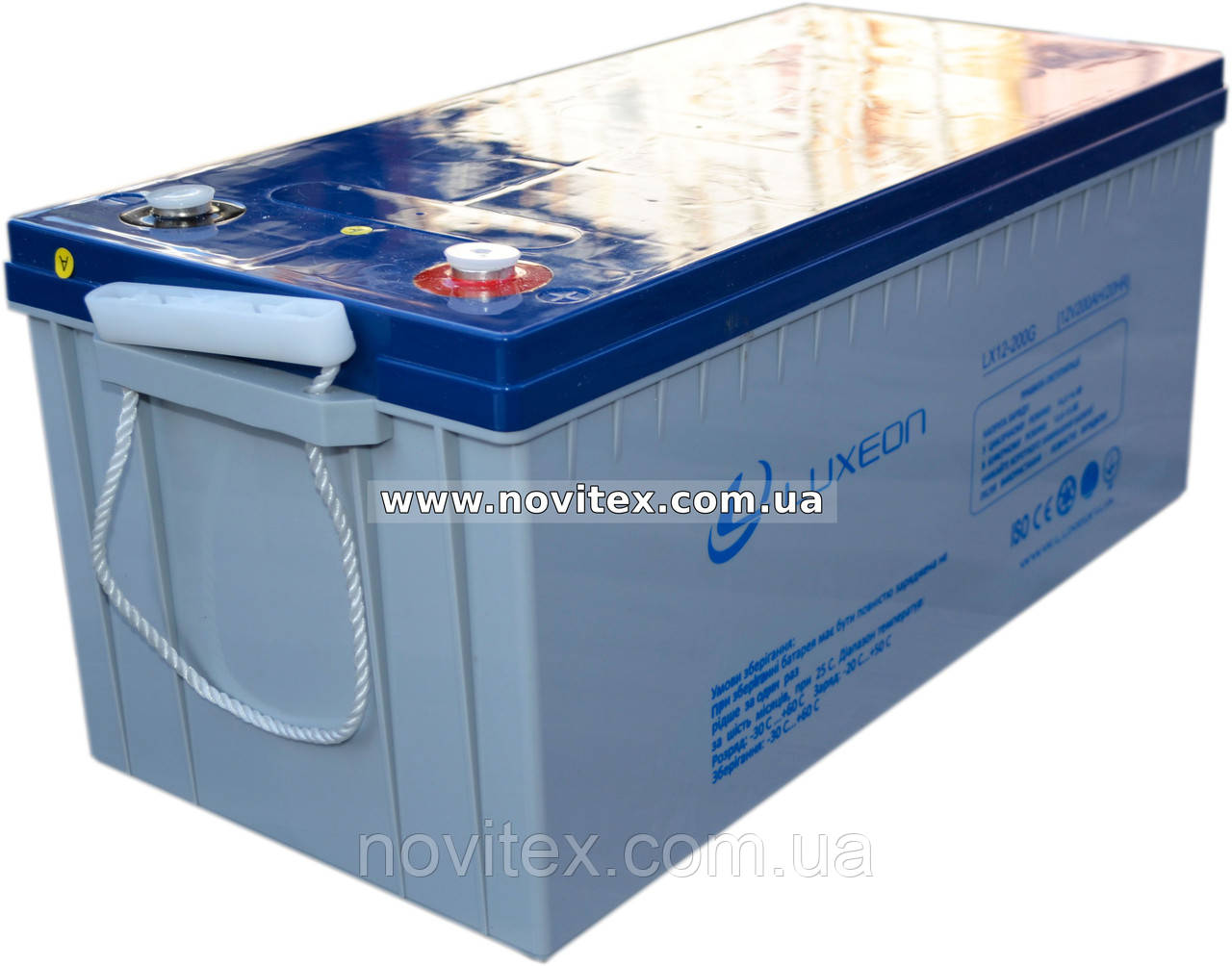 Аккумулятор гелевый Luxeon LX12-200G 12V 200Ah