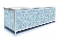 Экран под ванну 130 см, мозаика (голубой), пластиковый каркас