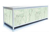 Экран под ванну торцевой 70 см, зеленый мрамор, пластиковый каркас