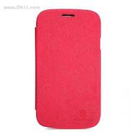 Чехол Nillkin Crossed Style Leather Case для Samsung Galaxy S3 (i9300) и S3 Duos bright red + защитная плёнка