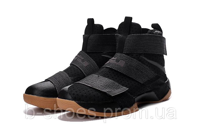 Мужские баскетбольные кроссовки Nike LeBron Zoom Soldier 10 (Black Rubber)