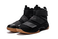 Мужские баскетбольные кроссовки Nike LeBron Zoom Soldier 10 (Black Rubber), фото 1