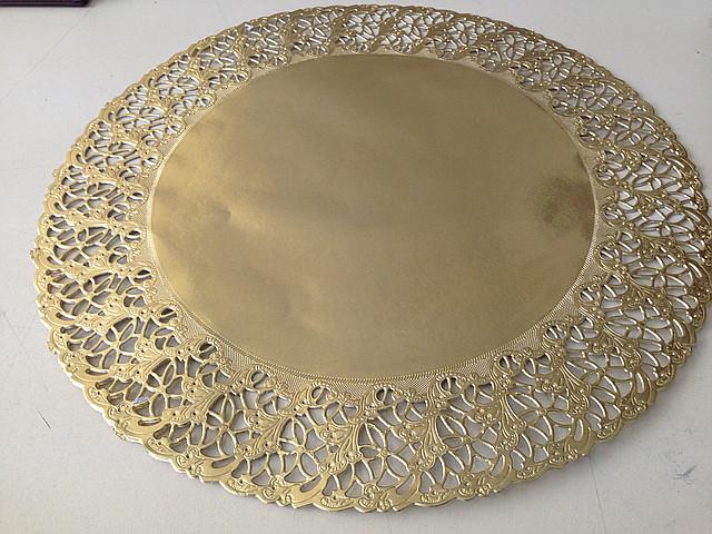 Ажурная салфетка под торт круглая D36см(02190)