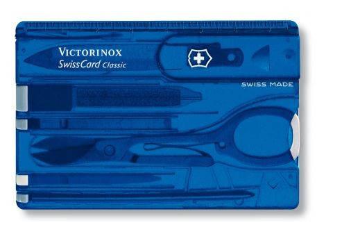 Мегаудобная швейцарская карманная карточка VICTORINOX Swisscard 07122.T2 синий