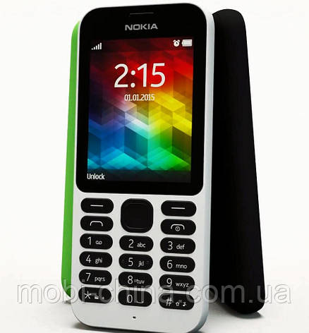 "Телефон Nokia 215 DS White 2,4"", фото 2"