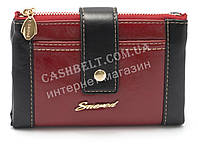 Черный горизонтальный женский кошелек на кнопке красного цвета FUERDANNI art. 88043