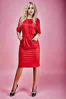 Женское платье с резинкой на талии из стрейчевой ткани