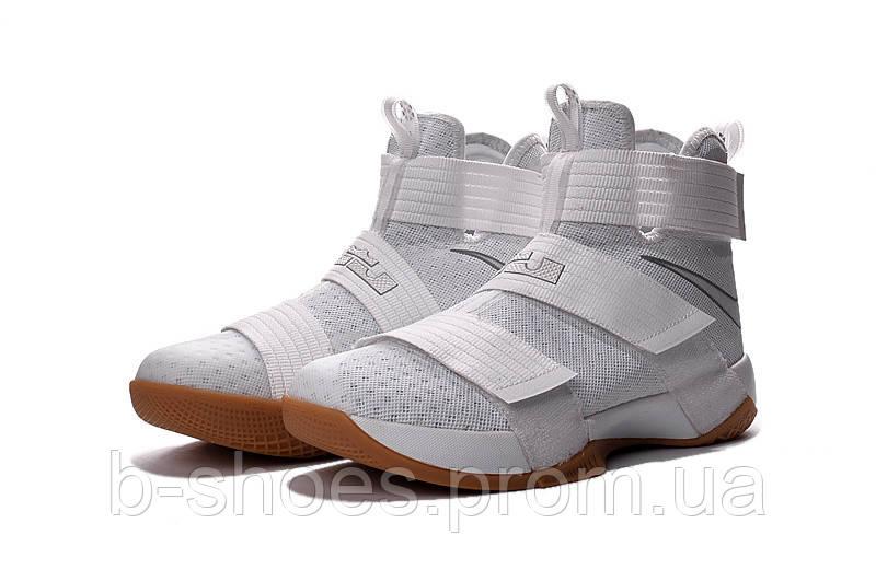Мужские баскетбольные кроссовки Nike LeBron Zoom Soldier 10 (White Rubber)