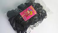 Резинки для волос черные (50 шт)