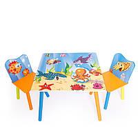 """Набор стол со стульями для детей """"Подводный мир"""""""