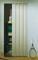 Складная дверь-гармошка Rapid 88x203 ясень белый (бежевый оттенок)