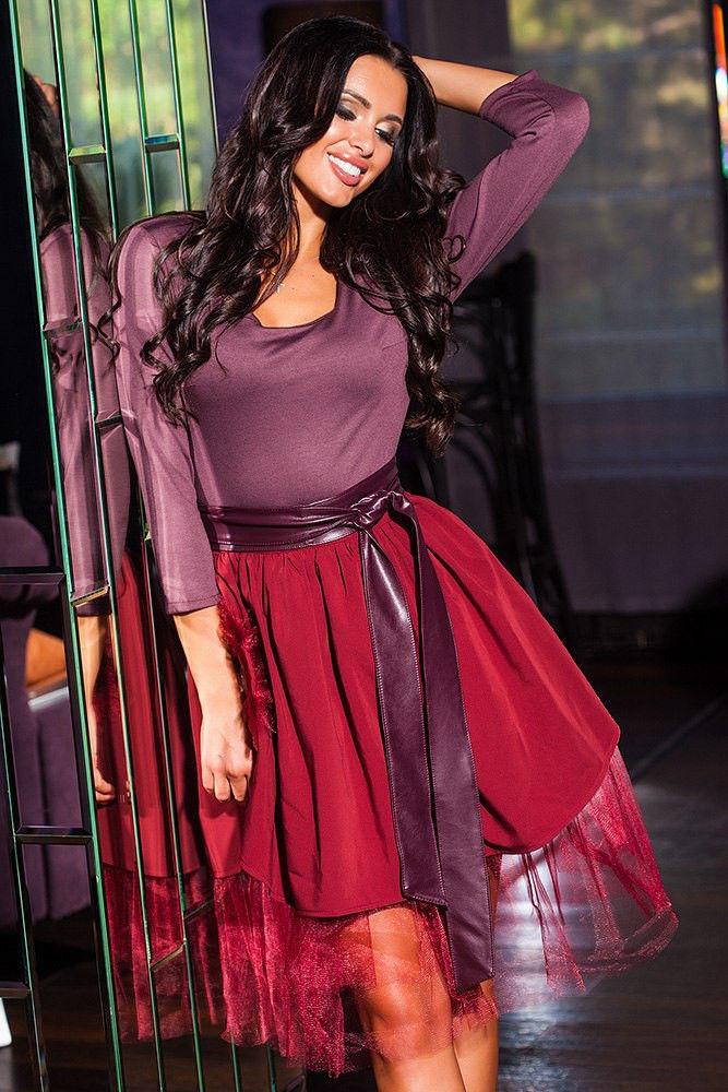3144ec2999c Коктейльное платье с фатином - СТИЛЬНАЯ ДЕВУШКА интернет магазин модной  женской одежды в Киеве