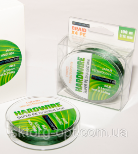 Шнур STREAMLINE HARDWIRE 100m 0.22mm dark green 4-жильный