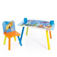 """Стол для рисования с стульчиком """"Подводный мир"""""""