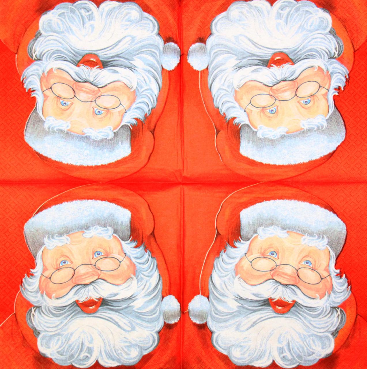 Декупажные салфетки Санта 2003