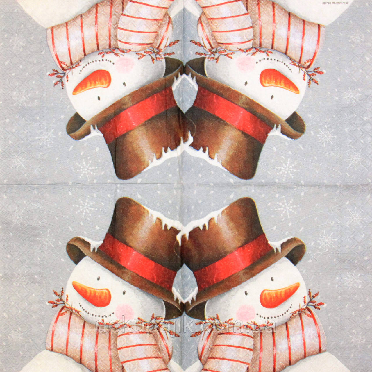 Салфетка декупажная Снеговик 2006