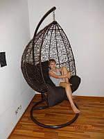 Садовое кресло подвесное, подвесные садовые качели, кресло из искусственного ротанга, фото 1