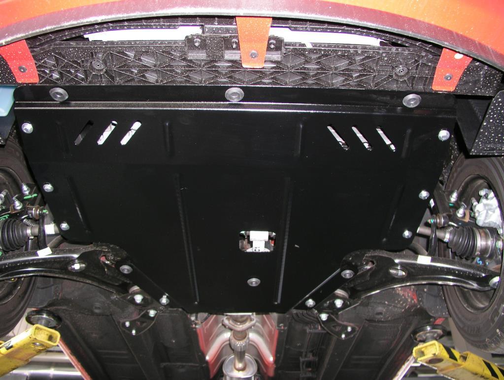 Защита картера двигателя- оцинкованная Kia Venga 2010- V-всі,МКПП/АКПП,двигун, КПП, радіатор (КИА Венга) (Kolchuga)
