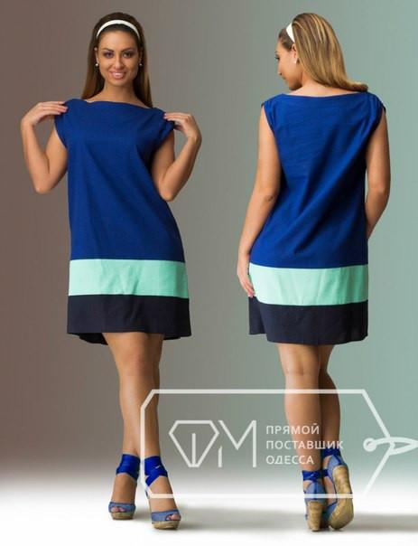 Платье льняное в полоску - Поставщик одежды BELIY. Мужская и женская одежда по оптовым ценам в Одессе
