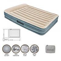 Кровать надувная с подголовником  BESTWAY 203-152-43 см. с встроенным насосом