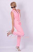 Летний Комбинезон брючный розовый