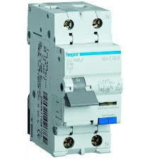 Дифавтомат HAGER AD870J, 20A, 30mA, C, тип АС, 4.5КА