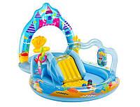 Детский игровой центр-бассейн Замок Русалки Intex с бассейном и горкой 279-160-140см.
