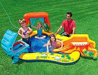 Детский игровой центр-бассейн Динозавры Intex 249х191х109см.