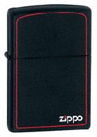 Зажигалка Zippo 218ZB BLACK MATTE w/ZIPPO BORDER