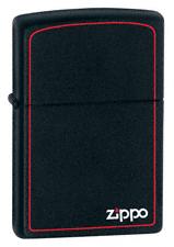 Зажигалка Zippo 218ZB BLACK MATTE w/ZIPPO BORDER, фото 2