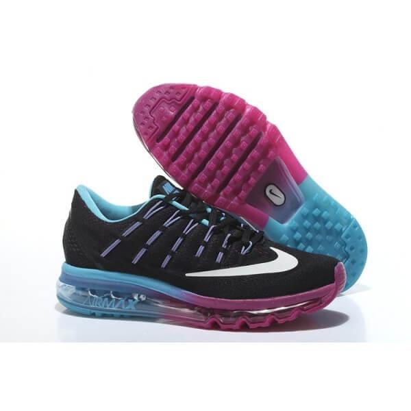 c618e6e7fa86 Кроссовки в стиле Nike Air Max 2016 Black Water Blue Purple женские -  Интернет