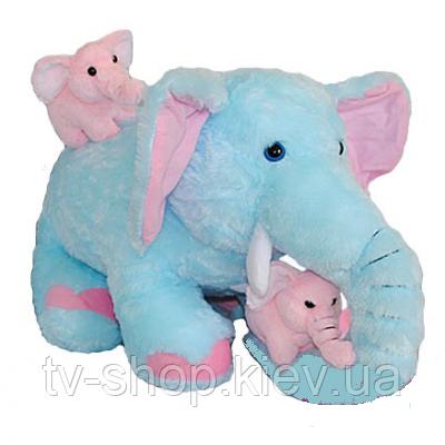 Слон со слонятами