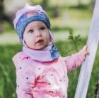 """Детский демисезонный комплект (шапочка+шарф) для девочки """"Каспа"""", DemboHouse (ДембоХаус)"""