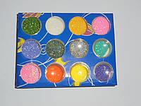 Блеск дизайнерский 12 цветов, товары для маникюра, аксессуар маникюрный