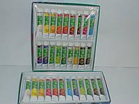 Два набора акриловых красок Global Fashion 18 цветов и 12 цветов(12 мл), краски, набор акриловых красок