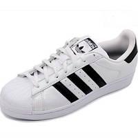 Женские кроссовки мужские кроссовки Adidas superstar black-white