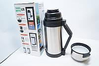 Термос для горячих напитков и еды 1.2L, пищевой термос, для горячей еды, походный, туристический