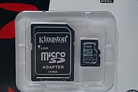 Карта памяти 4GB Kingston 4kl micro sd + SD adapter, аксессуары для техники, гаджеты, аккумулятор,карты памяти