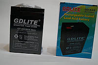 Акумулятор АКБ GD-LITE GD-645 6v 40AH, комплектуючий, свинцево-кислотний акумулятор, фото 1