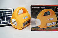 MOD 7655 Портативный светодиодный фонарь на солнечной батаее и акумуляторе с MP3 и радио проигрывателем, радио