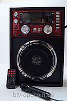 Портативная колонка SD/USB KN-771mic Karaoke, приемник-фонарь, аудиотехника, электроника, радиоприемники