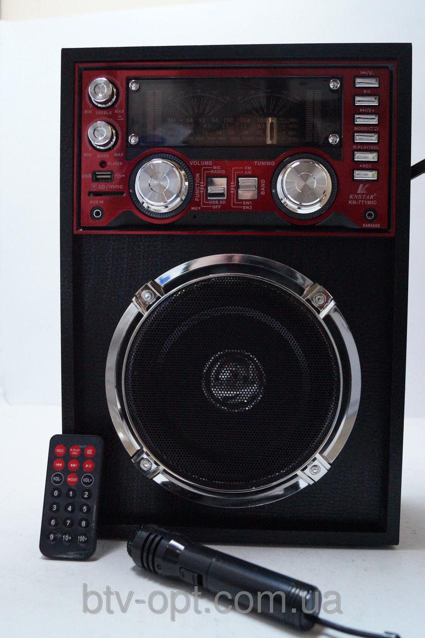 0b3eb2c45bc7 Портативная колонка SD USB KN-771mic Karaoke, приемник-фонарь, аудиотехника,