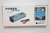 Инвентор напряжения 500w, преобразователь 12/220 500w, автомобильные инверторы, преобразователи напряжения