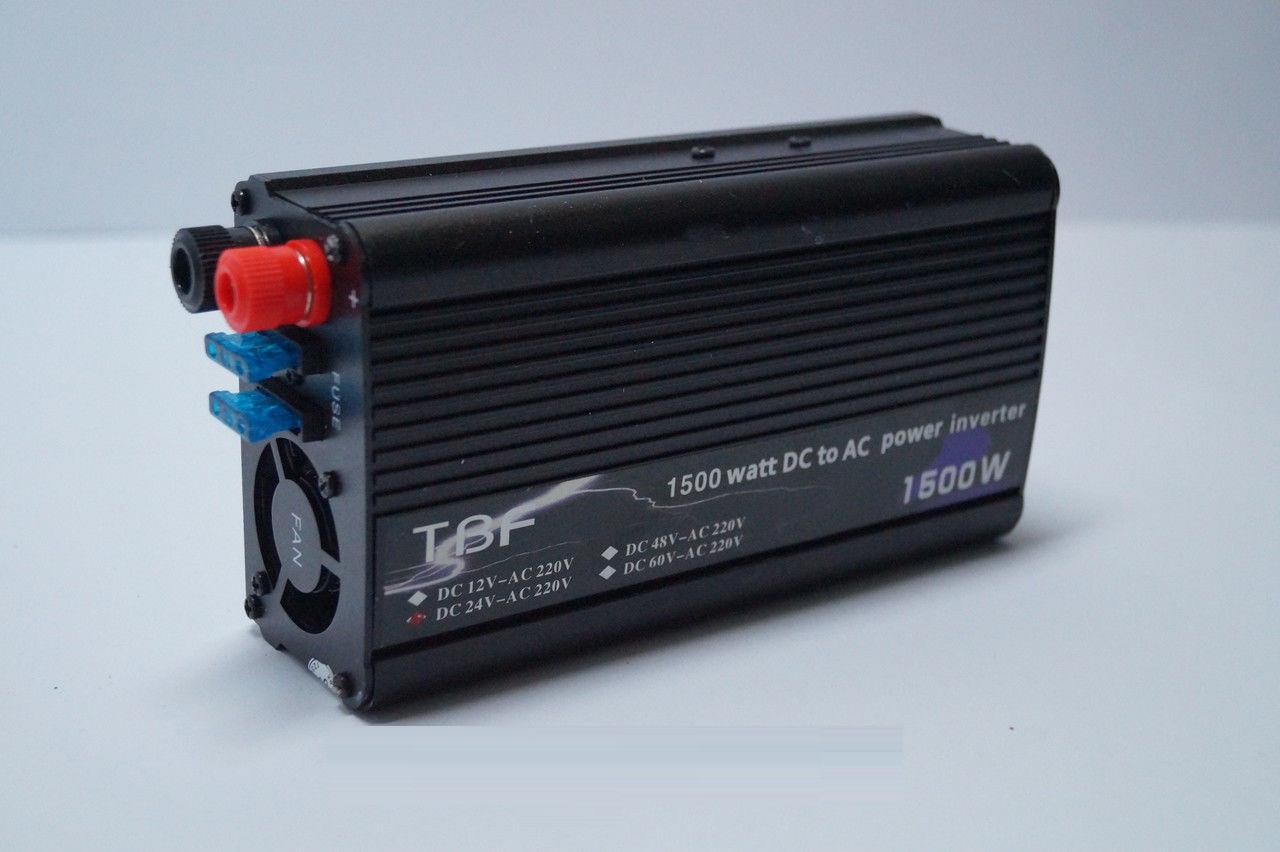 Инвертер напряжения 24/220 1500w TBE , преобразователь 24/220 1500w, автомобильные инверторы, преобразователи , фото 1