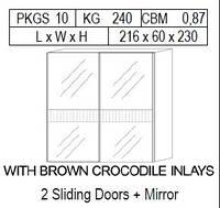 Шкаф купе 2 двери зеркальный