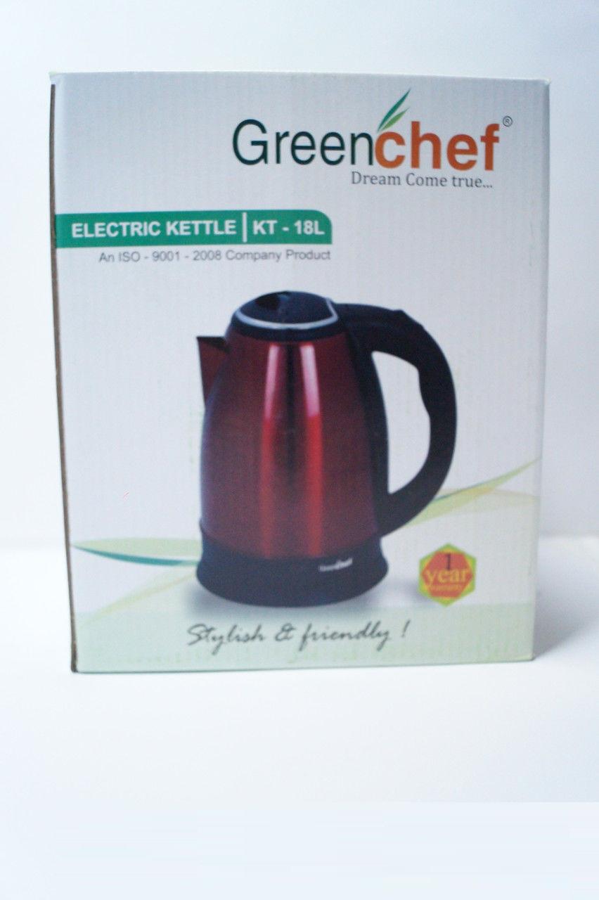 Дисковый чайник Gereenchef KT-18L RED, кухонная техника, товары для кухни, чайники, электрочайник , фото 1