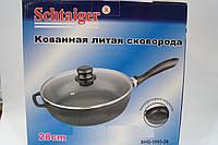 Сковорода Schtaiger 28 см SHG-1093-28, кастрюли, нержавеющие кастрюли, сковородки, кухонная посуда, качество , фото 1