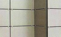 Фасадная система навески керамогранита кляммерная (кляймерная подсистема)
