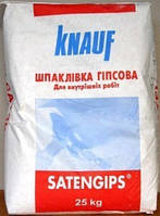 Гипс шпаклевочный Satengips, 25 кг. Сатенгипс.